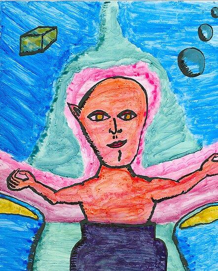 one eared alien by wormink