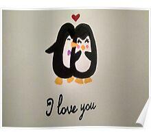 Love Penguins Poster
