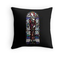 St Columba Stain Glass Window Iona Abbey Throw Pillow