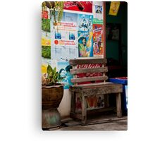 Coke Seat Canvas Print
