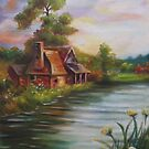 Cottage by the lake by Lubna