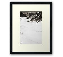 The Long Cold Walk Framed Print