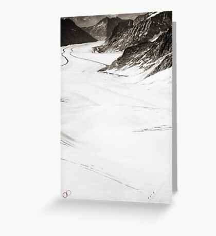 The Long Cold Walk Greeting Card