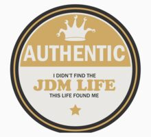 Authentic jdm life found me badge - Light orange  Kids Clothes