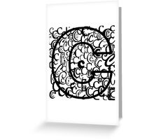 The Letter C, open border Greeting Card