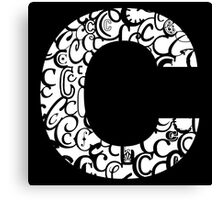 The Letter C, black background Canvas Print