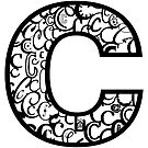 The Letter C, white background by Julie Hartman