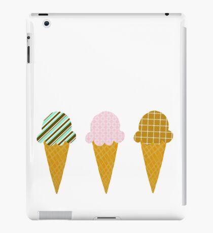 Ice Cream Cone Trio iPad Case/Skin