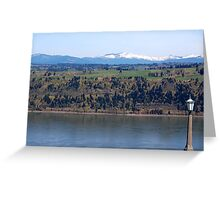 View of Columbia river from Crown Point Greeting Card