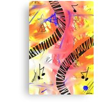 Music - Unique Abstract Art Canvas Print