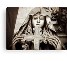 Holding the cross Canvas Print
