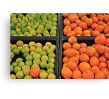 green and orange fruit Canvas Print