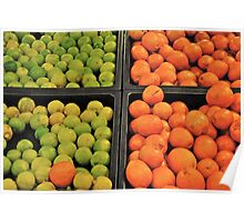 green and orange fruit Poster