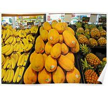 yellow and orange fruit Poster