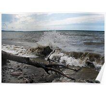 """"""" Lake Ontario Waves - Sodus N.Y """" Poster"""