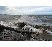 """"""" Lake Ontario Waves - Sodus N.Y """" Photographic Print"""