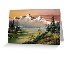Prince William Sound Alaska Springtime Greeting Card