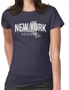 New York Baseball 3 Womens Fitted T-Shirt