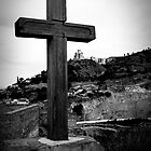 Cross in Black and White - Tbilisi, Georgia by Emily Enz