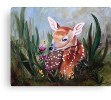 Fawn Innocence Original Oil Painting Canvas Print
