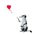 Meerkat girl with the red balloon - Banksy style by redcow