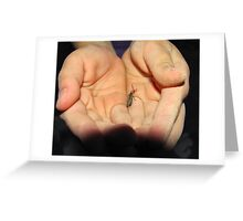 One in the Hand. Greeting Card