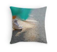 Silver Lame Shoes Throw Pillow