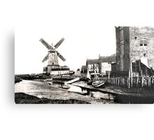 Cley Windmill sea port 1880s Metal Print