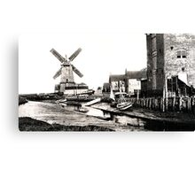 Cley Windmill sea port 1880s Canvas Print