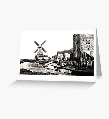 Cley Windmill sea port 1880s Greeting Card