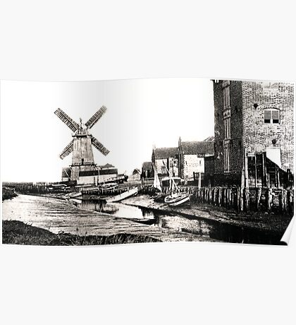 Cley Windmill sea port 1880s Poster