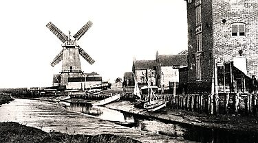 Cley Windmill sea port 1880s by cleywindmill