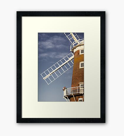 Cley Windmill - Love in the air Framed Print