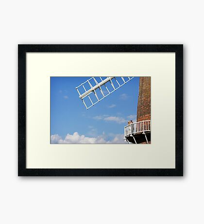 Cley Windmill - Love is in the air Framed Print