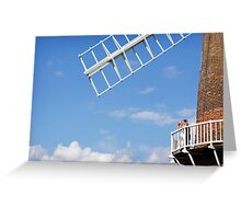 Cley Windmill - Love is in the air Greeting Card