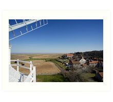 Cley windmill - the view from the fan-stage Art Print
