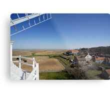 Cley windmill - the view from the fan-stage Metal Print