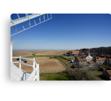 Cley windmill - the view from the fan-stage Canvas Print