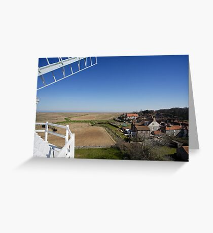 Cley windmill - the view from the fan-stage Greeting Card