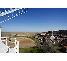 Cley windmill - the view from the fan-stage Photographic Print
