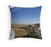 Cley windmill - the view from the fan-stage Throw Pillow