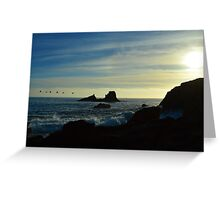 """Pacific Sunset"" Greeting Card"