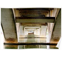 Reflecting Under a Bridge Poster