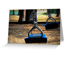 Swing Set in Motion Greeting Card