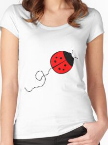 Cute Lady Bug Women's Fitted Scoop T-Shirt