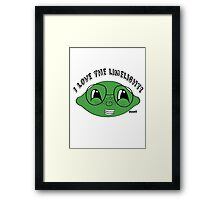 I love the limelight! Framed Print
