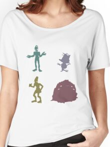 Natives - Oddworld Coloured Silhouettes Women's Relaxed Fit T-Shirt