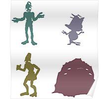 Natives - Oddworld Coloured Silhouettes Poster