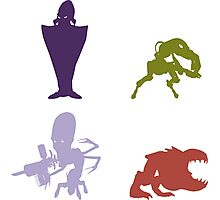 Industrialists - Oddworld Coloured Silhouettes Photographic Print