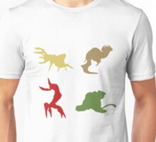 Wildlife - Oddworld Coloured Silhouettes Unisex T-Shirt